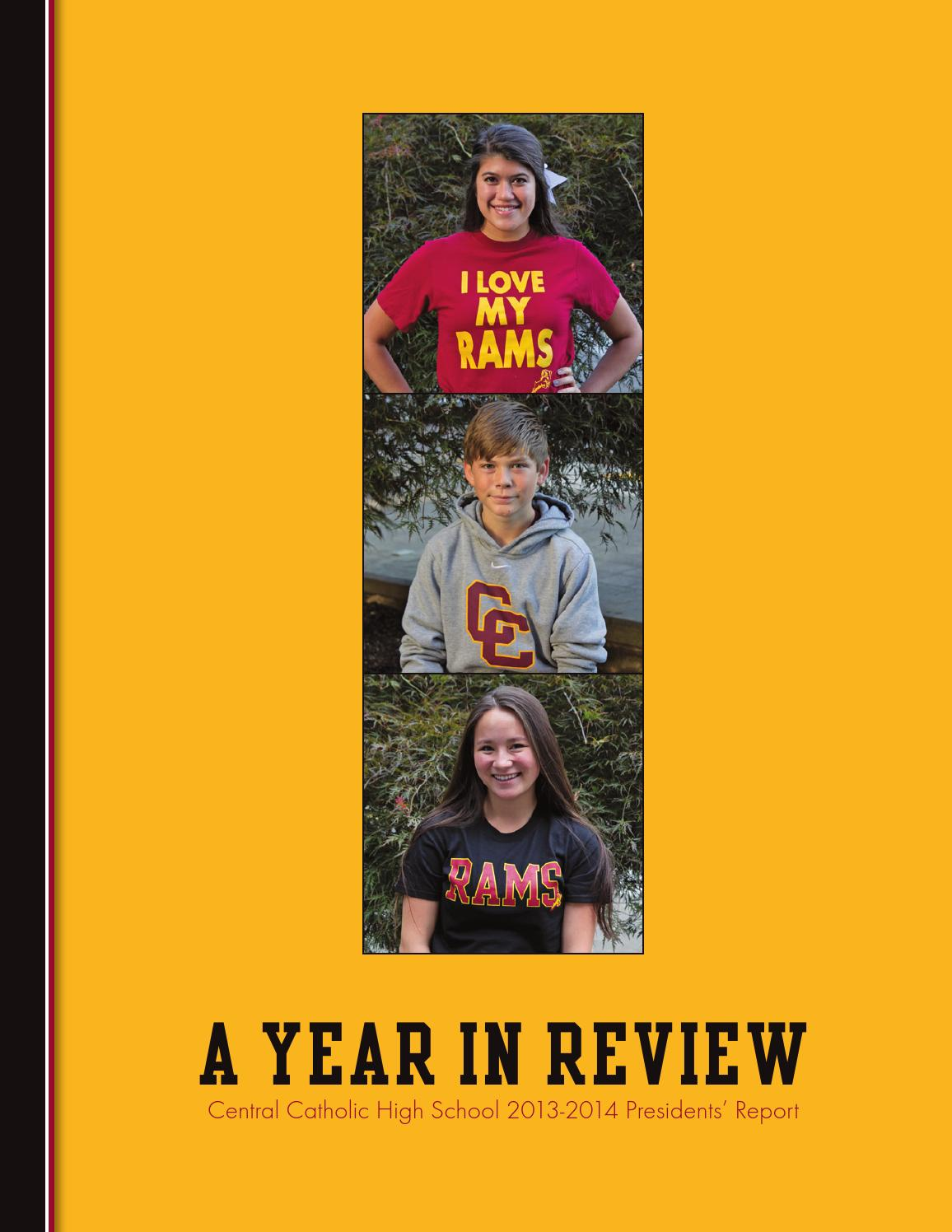 2013 2014 President S Report By Central Catholic High School Issuu