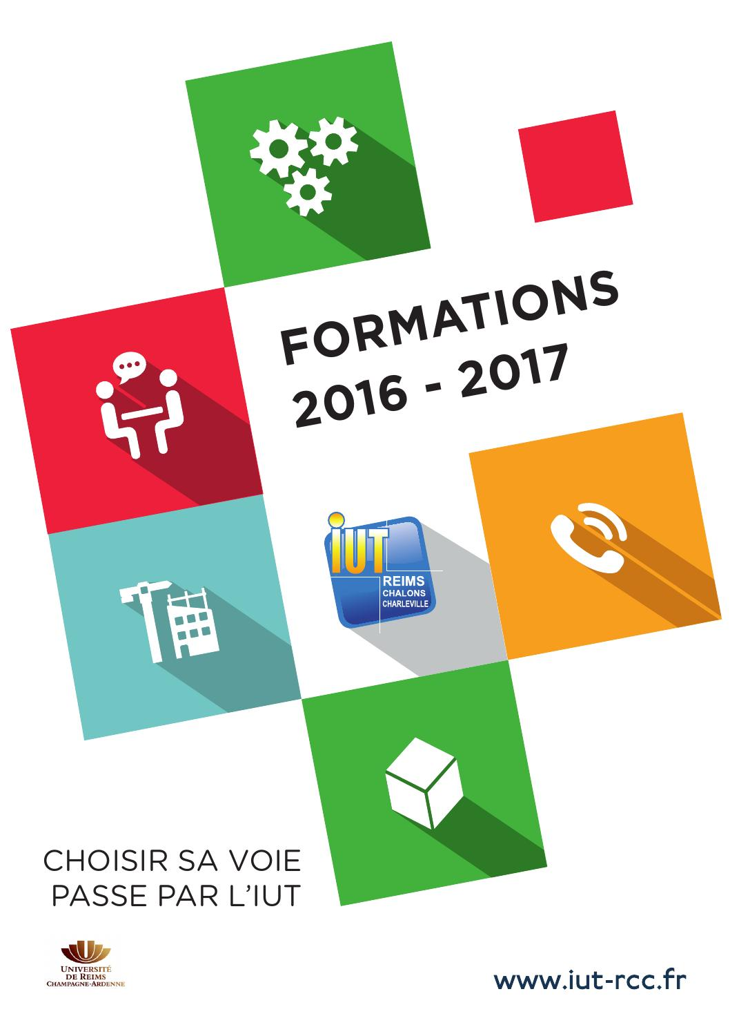 Iut Reims Châlons Charleville Plaquette 2016 2017 By Merand