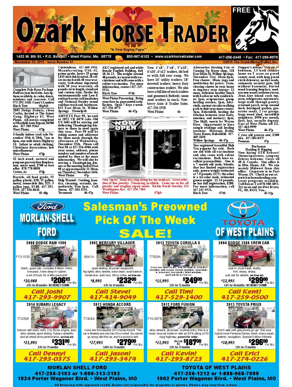 Issue47 By Ozark Horse Trader Issuu Chopper Wiring Diagram Besides Maytag Atlantis Dryer