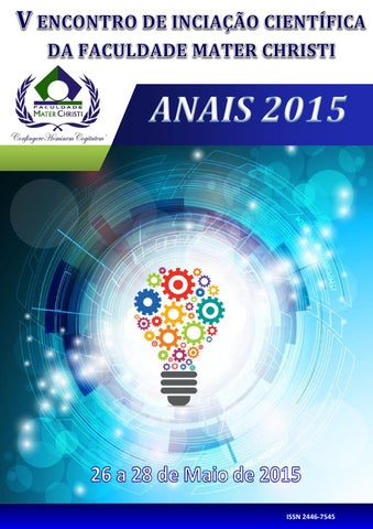 226cf5bda7 Anais 2015 publicação encontro científico mater christi by Mater ...