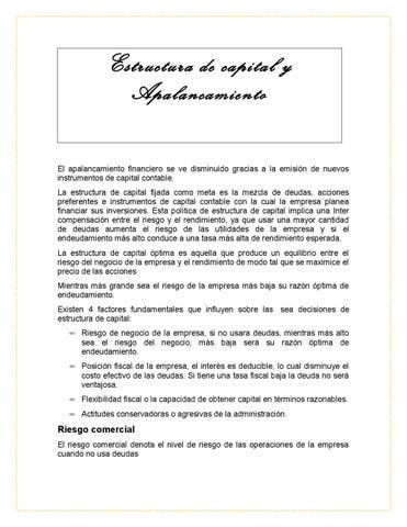 Estructura Y Apalancamiento By Laura Lima Issuu