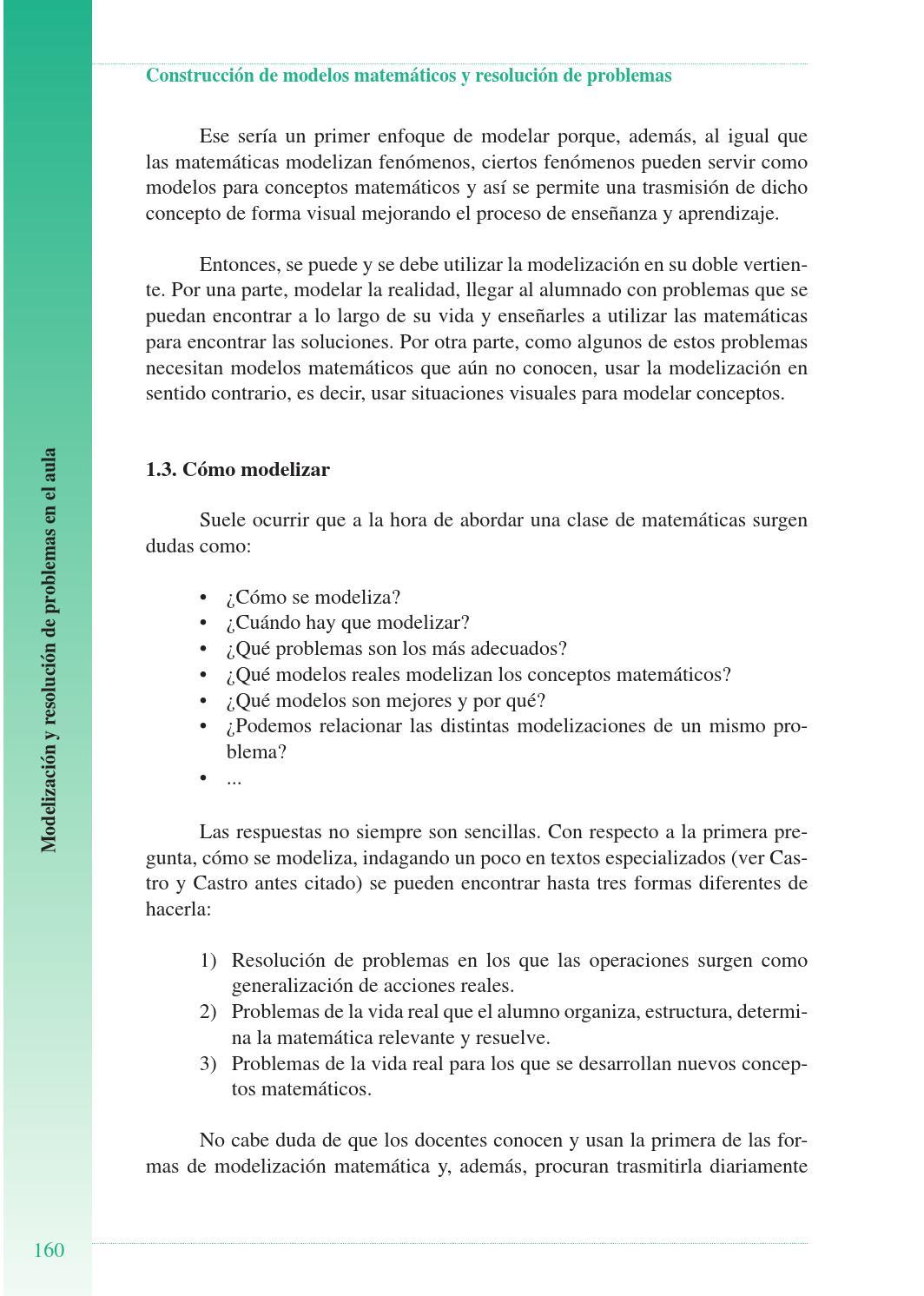 Construcción De Modelos Matemáticos Y Resolución De