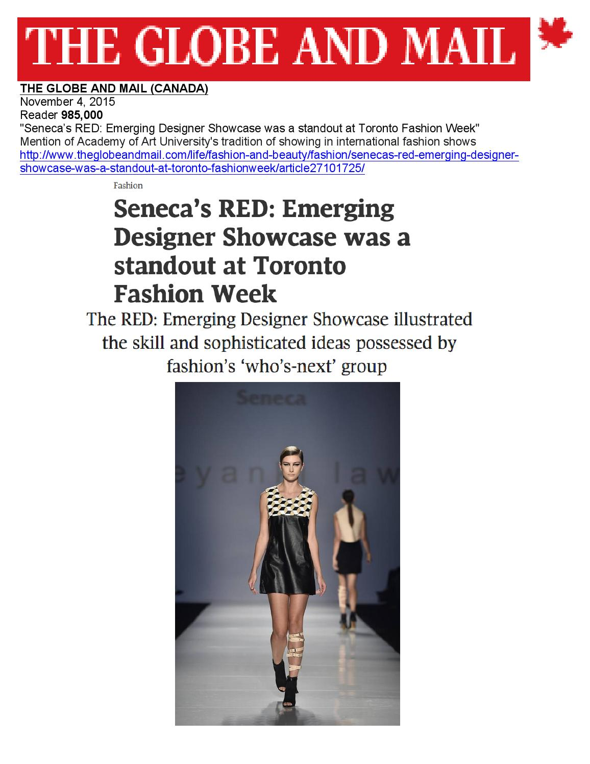 11 04 2015 The Globe And Mail By Academy Of Art University School Of Fashion Issuu