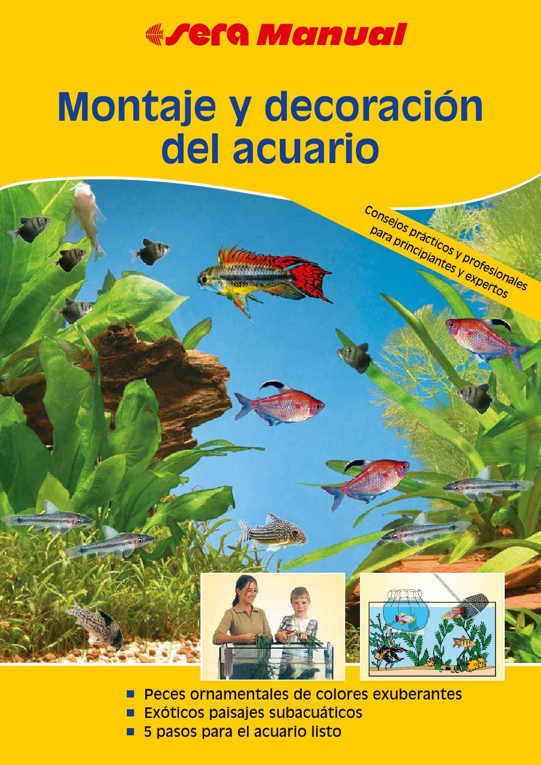 Montaje y decoraci n del acuario by la magia de los peces for Manual de peces ornamentales