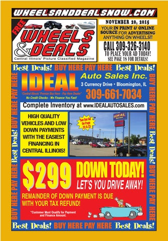 November 20, 2015 by Wheels and Deals - Issuu