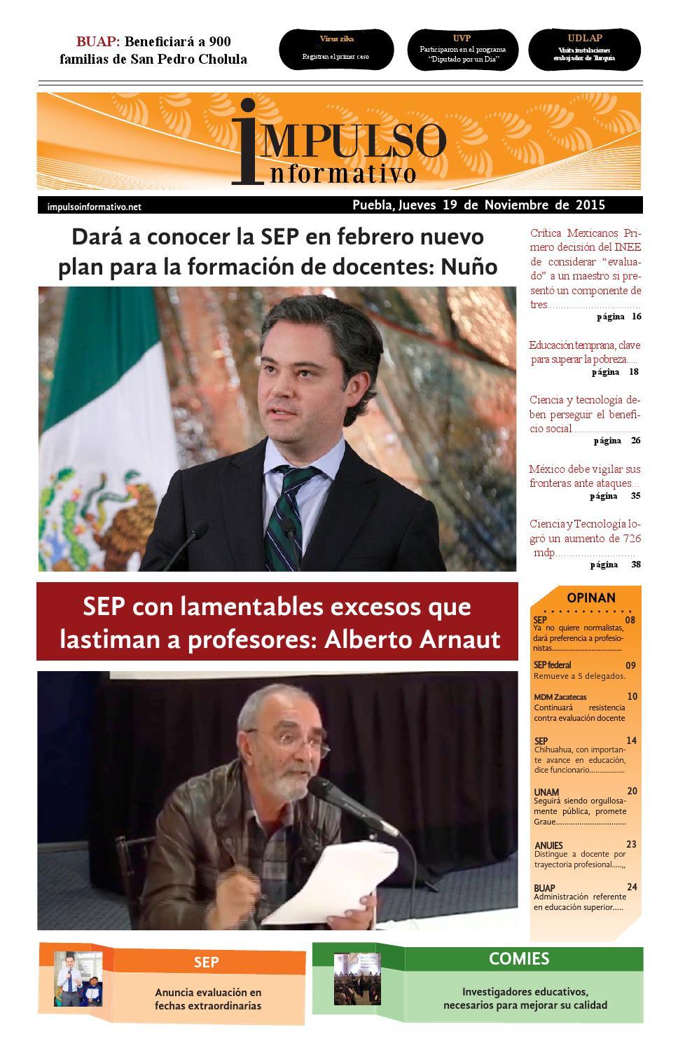 Impulso informativo impreso 19 noviembre 2015 by Laura Alejandra ...