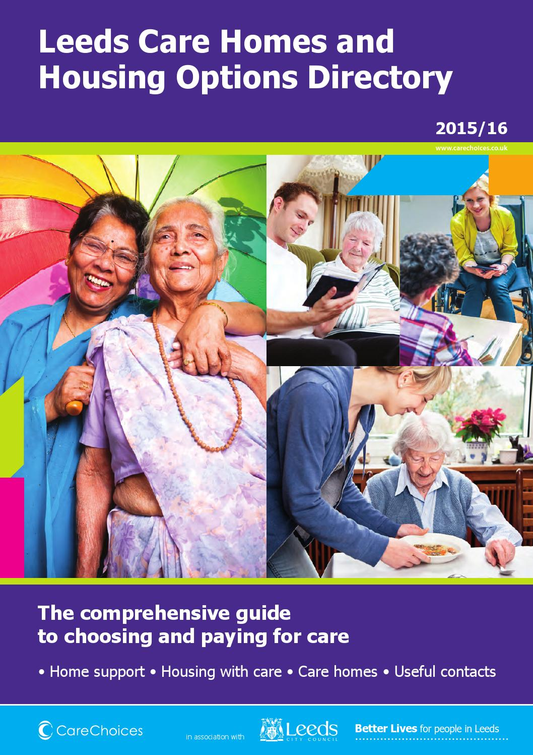 Leeds Care Homes And Housing Options Directory 2015 16 By Choices Ltd