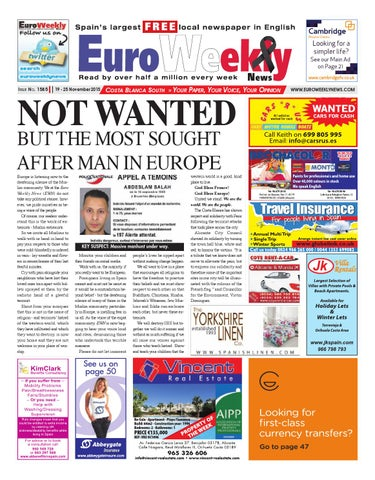 bf668857dff8 Euro Weekly News - Costa Blanca South 19 - 25 November 2015 Issue 1585