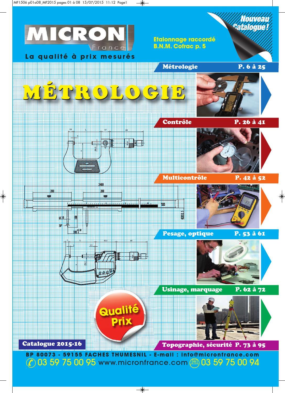 Calibre micron raccorder