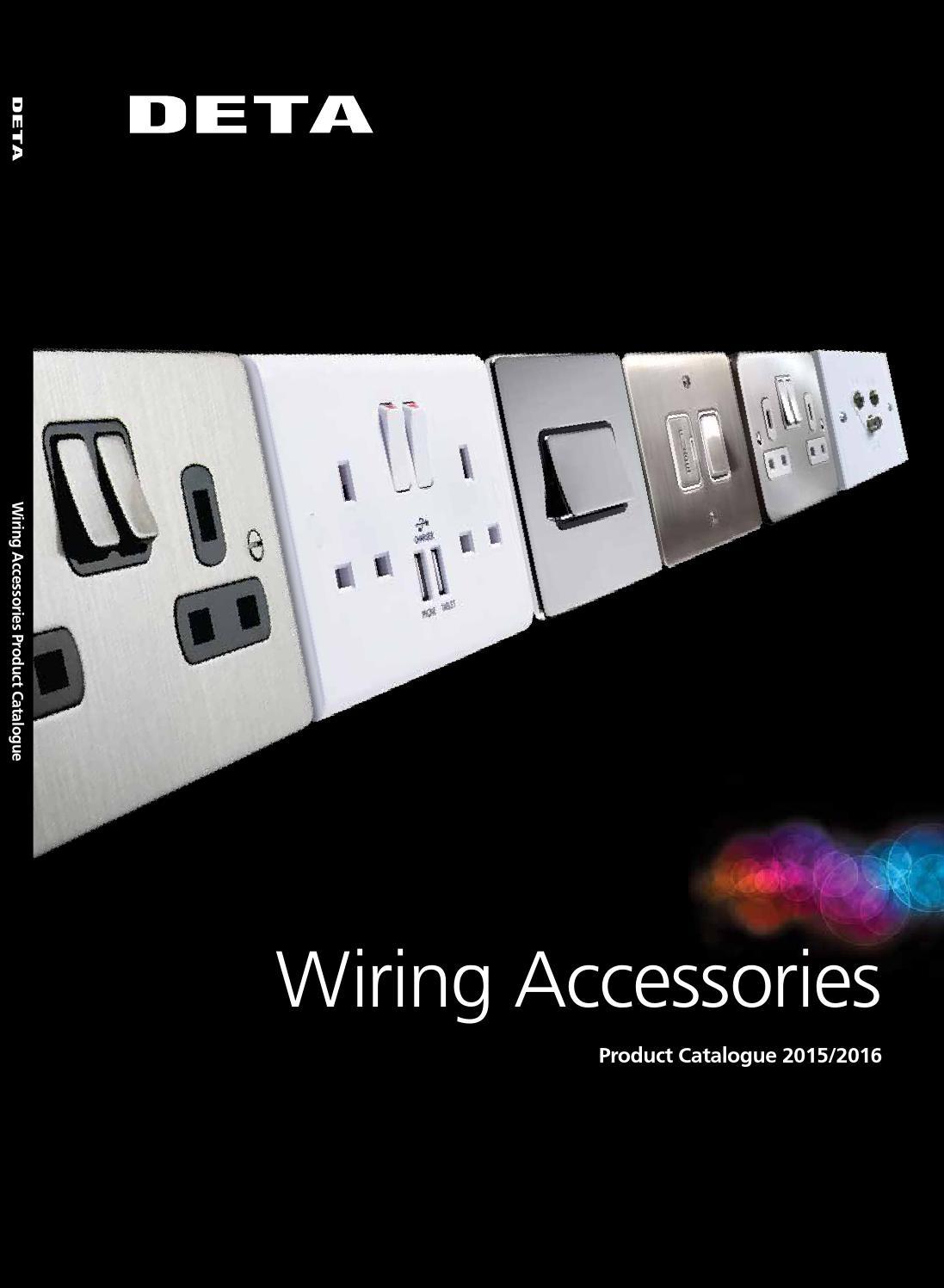 Deta Wiring Accessories Product Catalogue By Sentor Electrical Issuu Mk Rj45 Socket Diagram