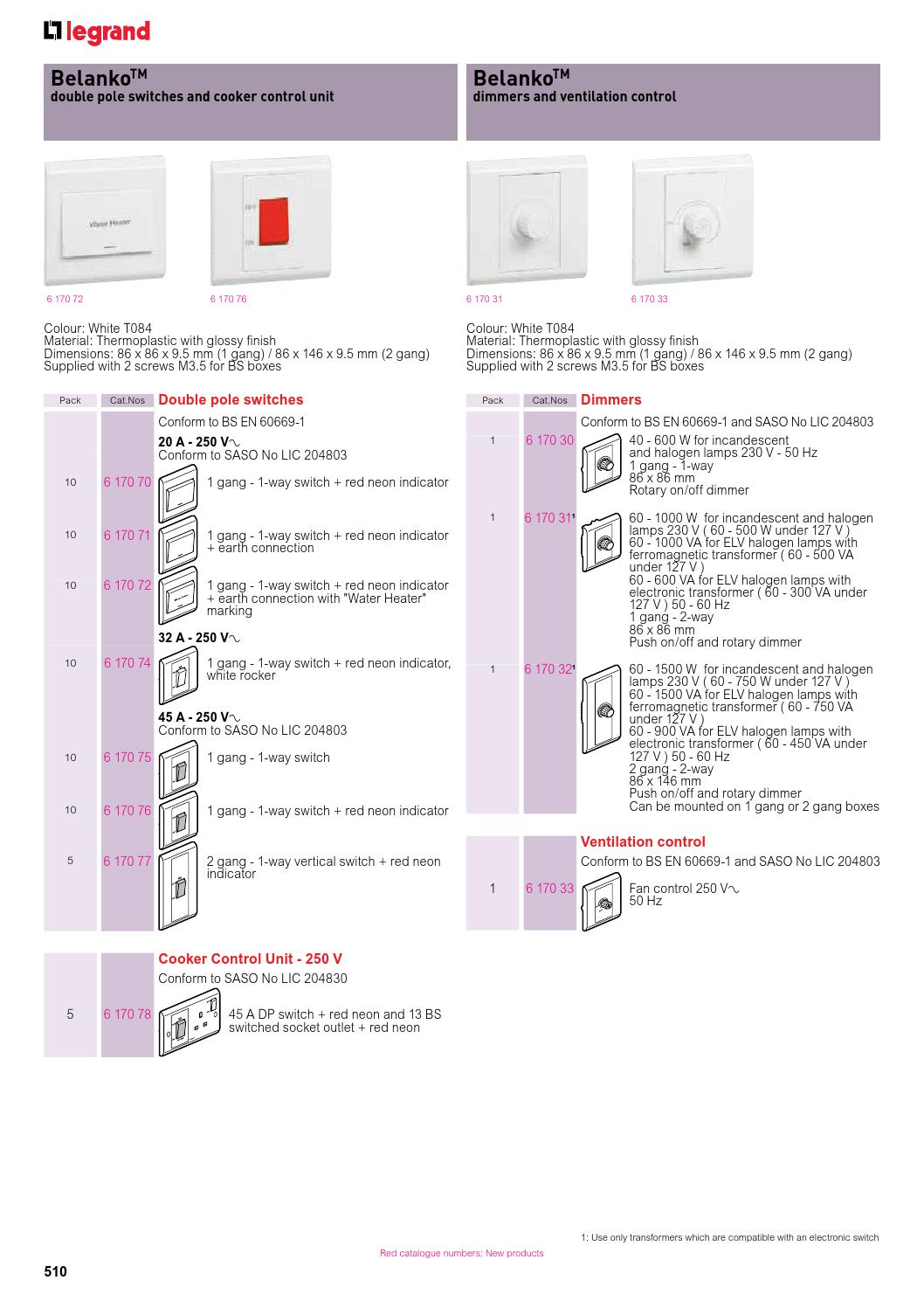 Legrand Gulf General Catalogue Part 3 By Sentor Electrical Issuu 2 Way Switch With Indicator