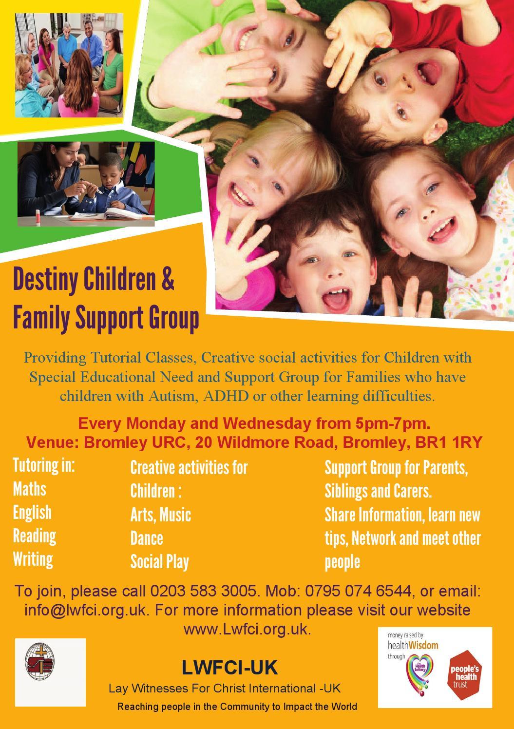 flyer destiny children  u0026 family support group by lwfci