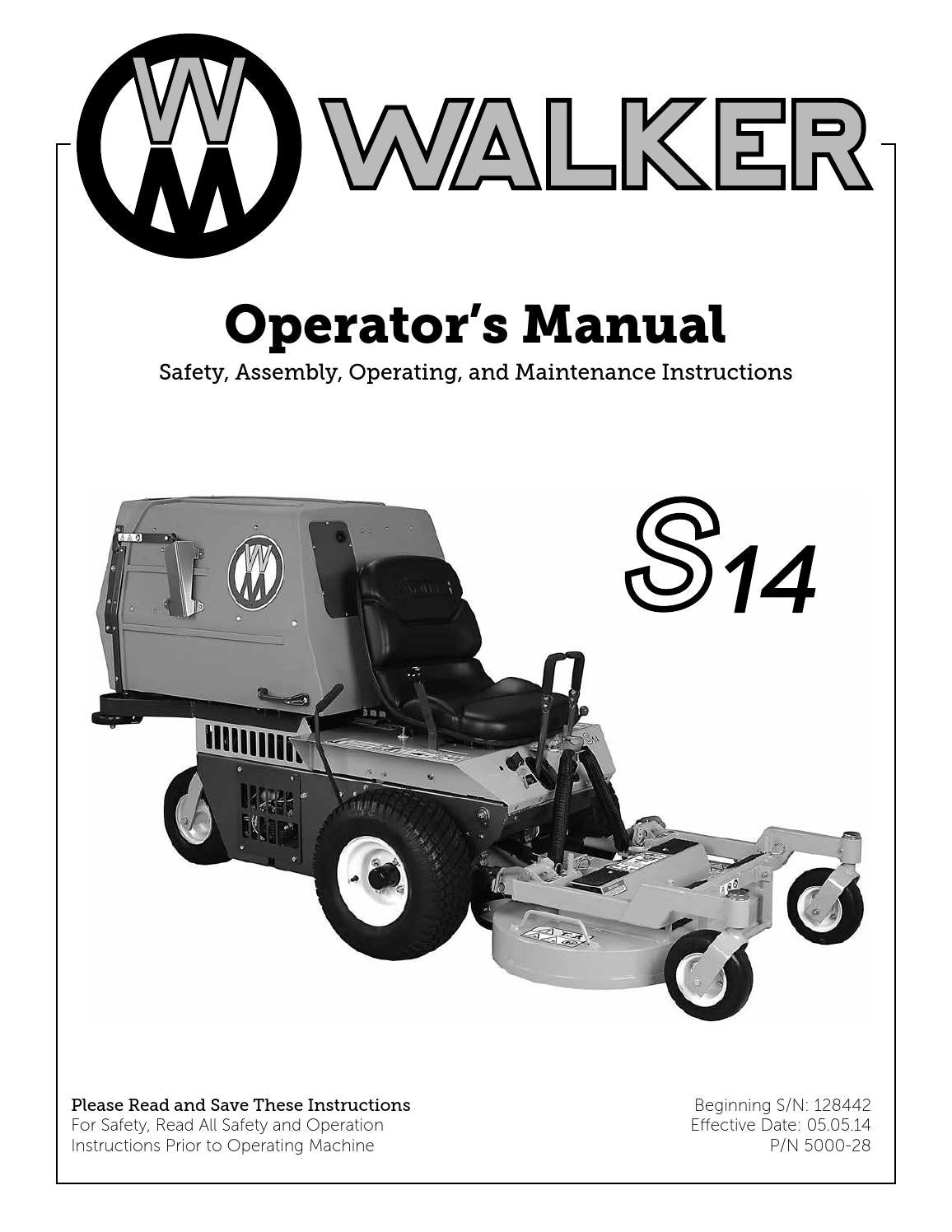 Walker Ms 14 S14 By Vertriebs Ag Issuu Mower Wiring Diagram