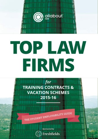 AllAboutLaw Top Law Firms for Training Contracts & Vacation Schemes