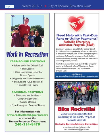 Rockville Winter 2015 Recreation Guide by Rockville Recreation - issuu