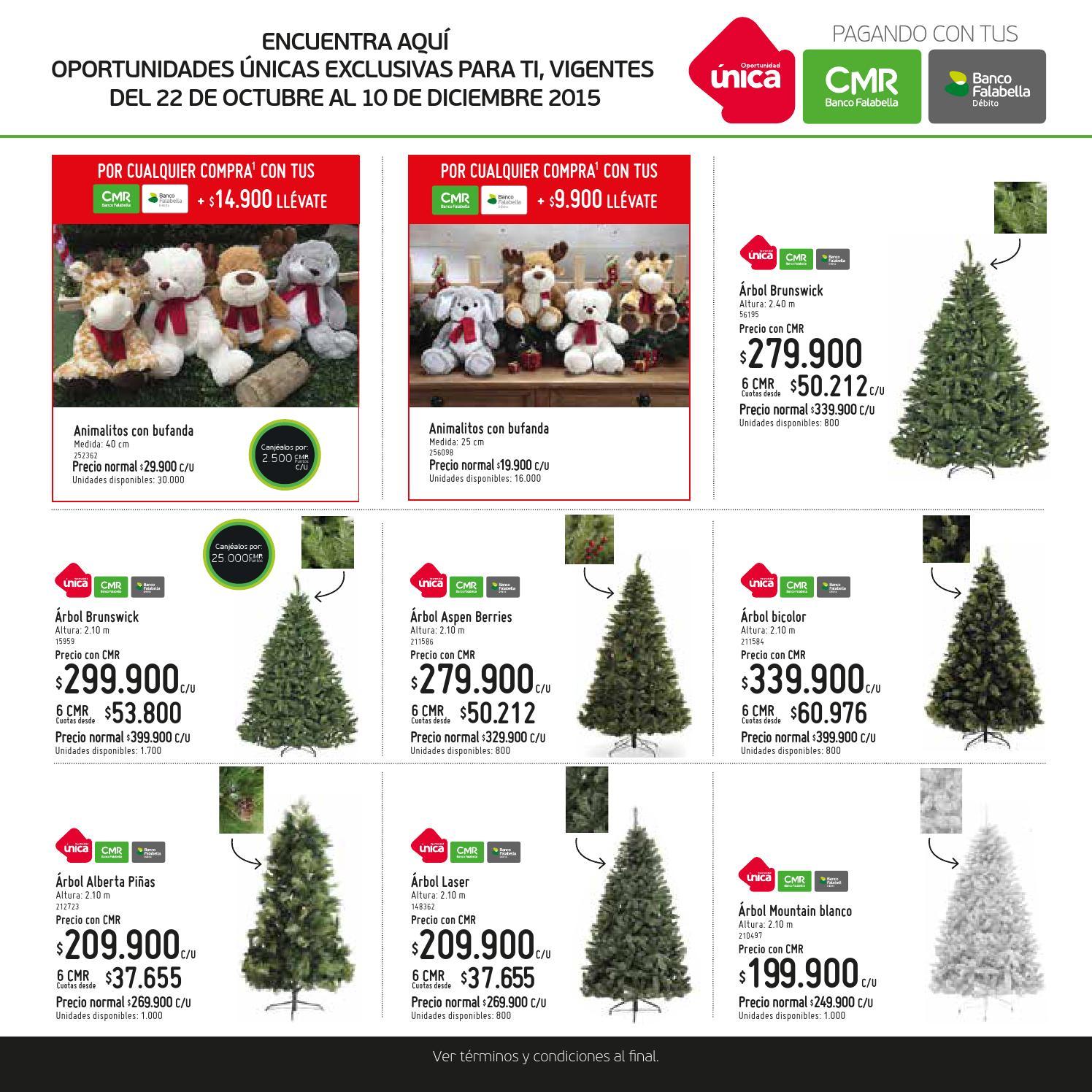 Cat logo decoraci n navide a homecenter by banco - Arboles de navidad precios ...