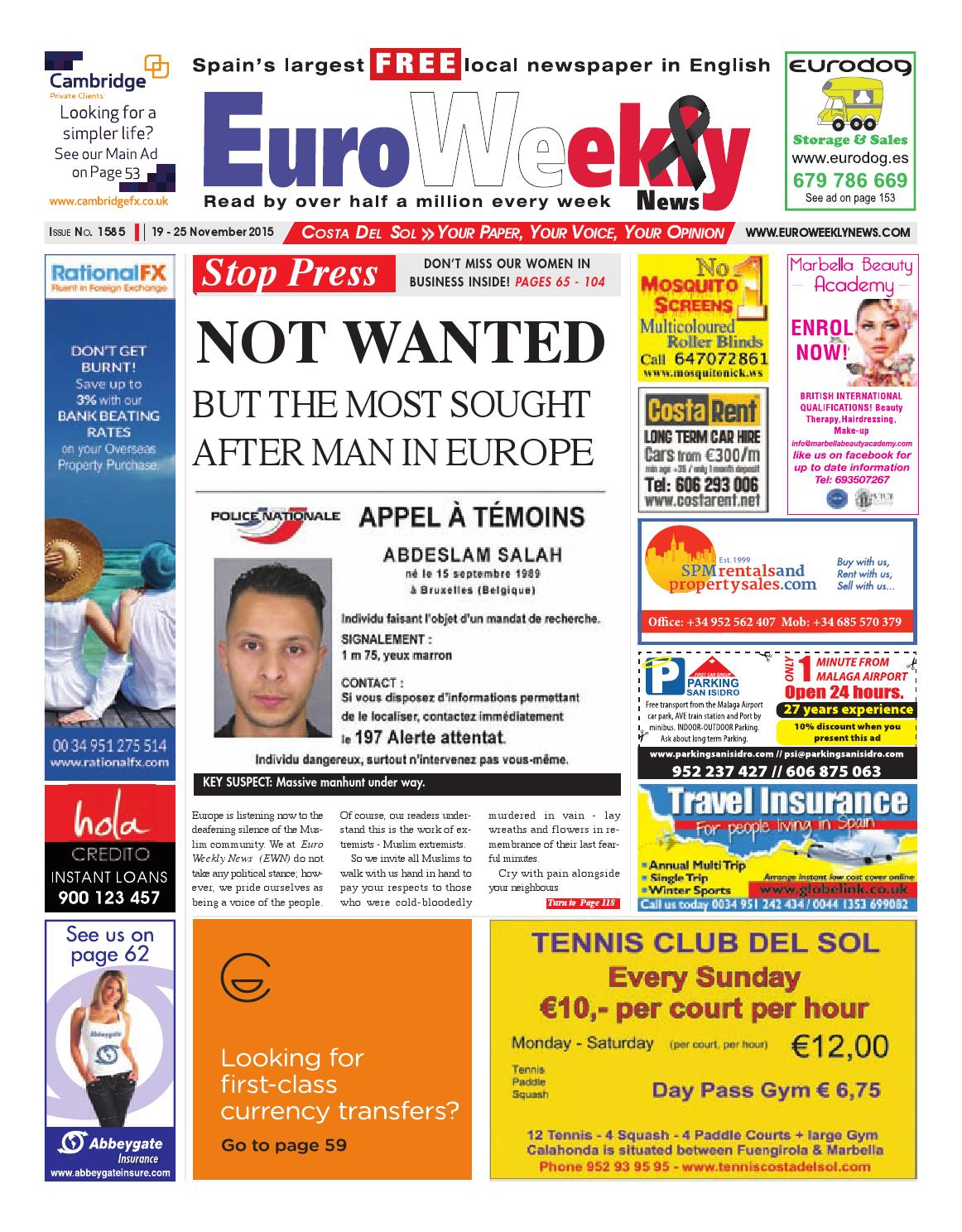 Euro Weekly News - Costa del Sol 19 - 25 November 2015 Issue 1585 by ...