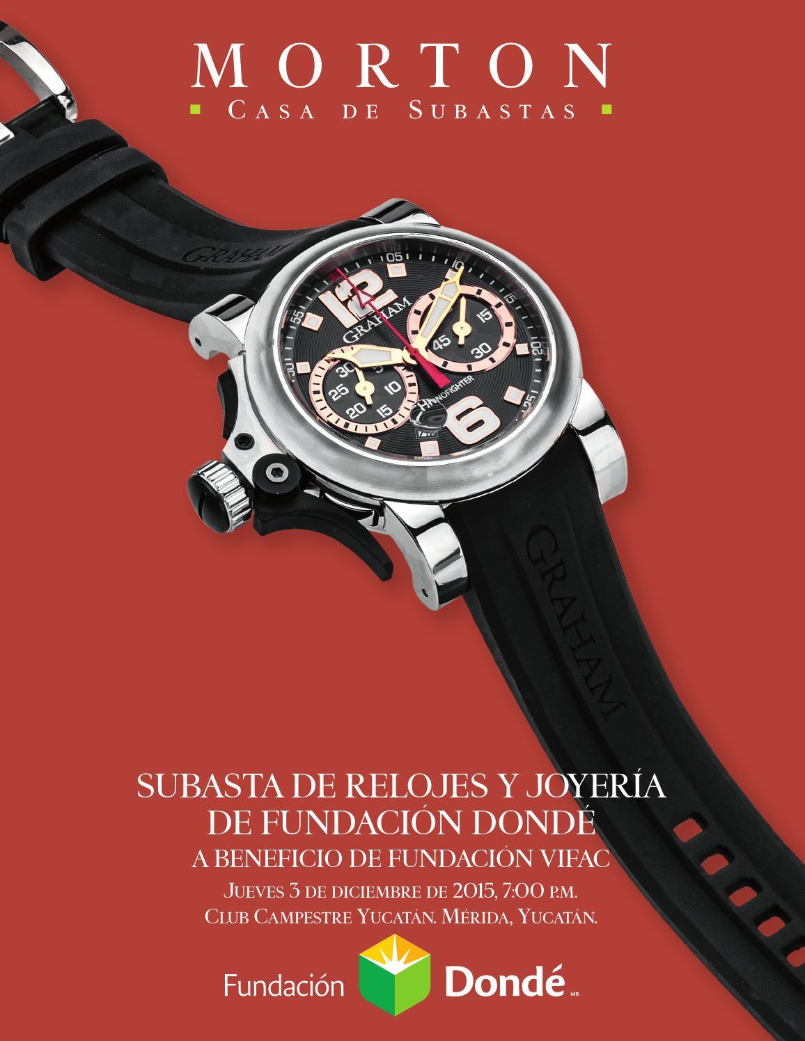 942ef7f58f0 Subasta de Relojes y Joyería de Fundación Dondé by Morton Subastas - issuu