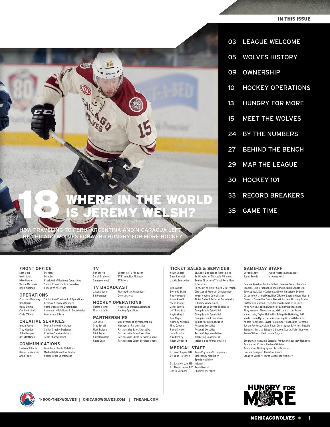 Breakaway Magazine Vol 8 Issue 2 By Chicago Wolves