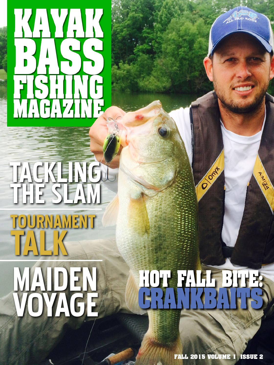 Kayak bass fishing magazine fall 2015 by crooked creek for Bass fishing magazine