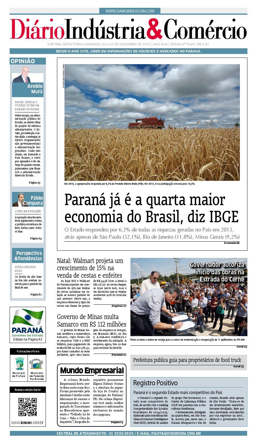 Diário Indústria Comércio - 20 de novembro de 2015 by Diário Indústria    Comércio - issuu 981bf8edf5