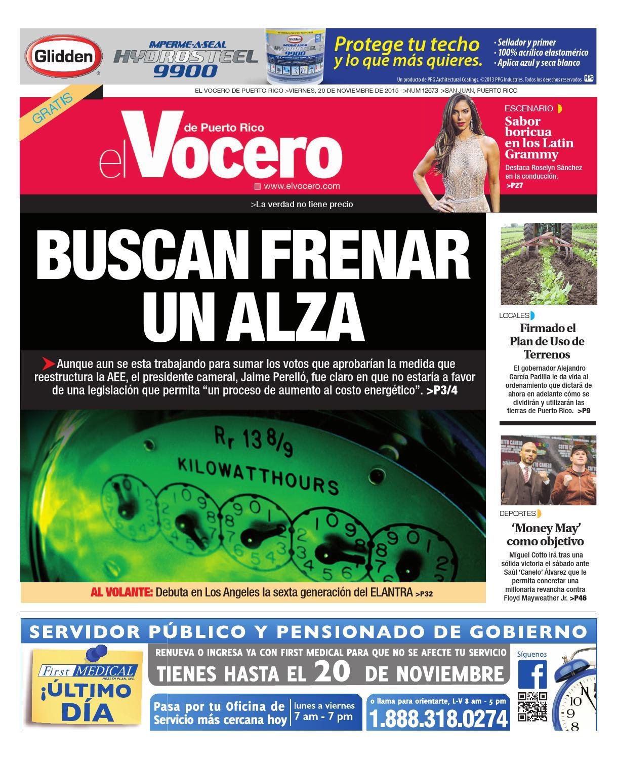 Edición 20 de Noviembre 2015 by El Vocero de Puerto Rico - issuu