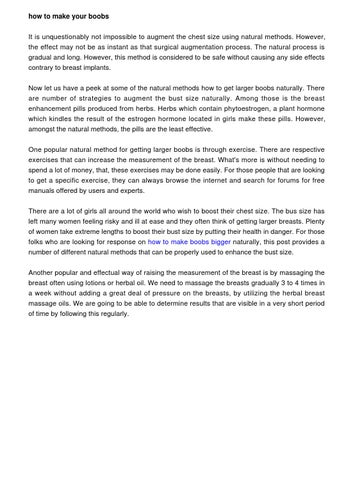 How To Make Your Boobs Grow Naturally by boobsgrow621 - issuu