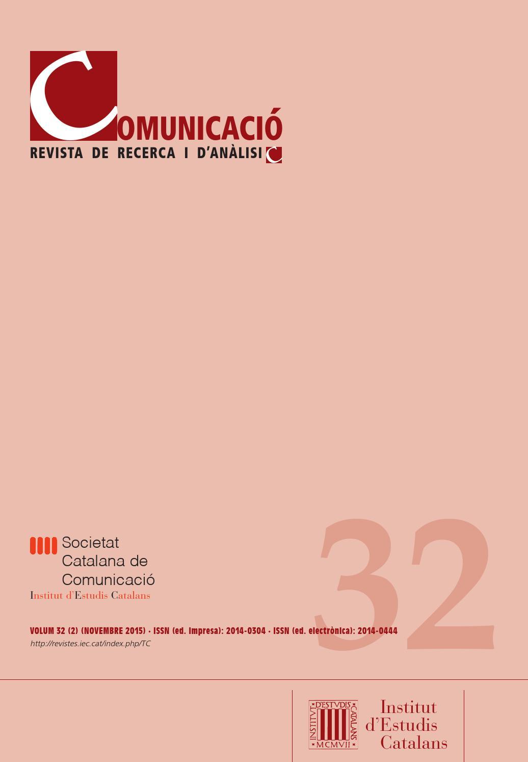 Comunicació. Revista de recerca i d\'anàlisi by Institut d\'Estudis ...