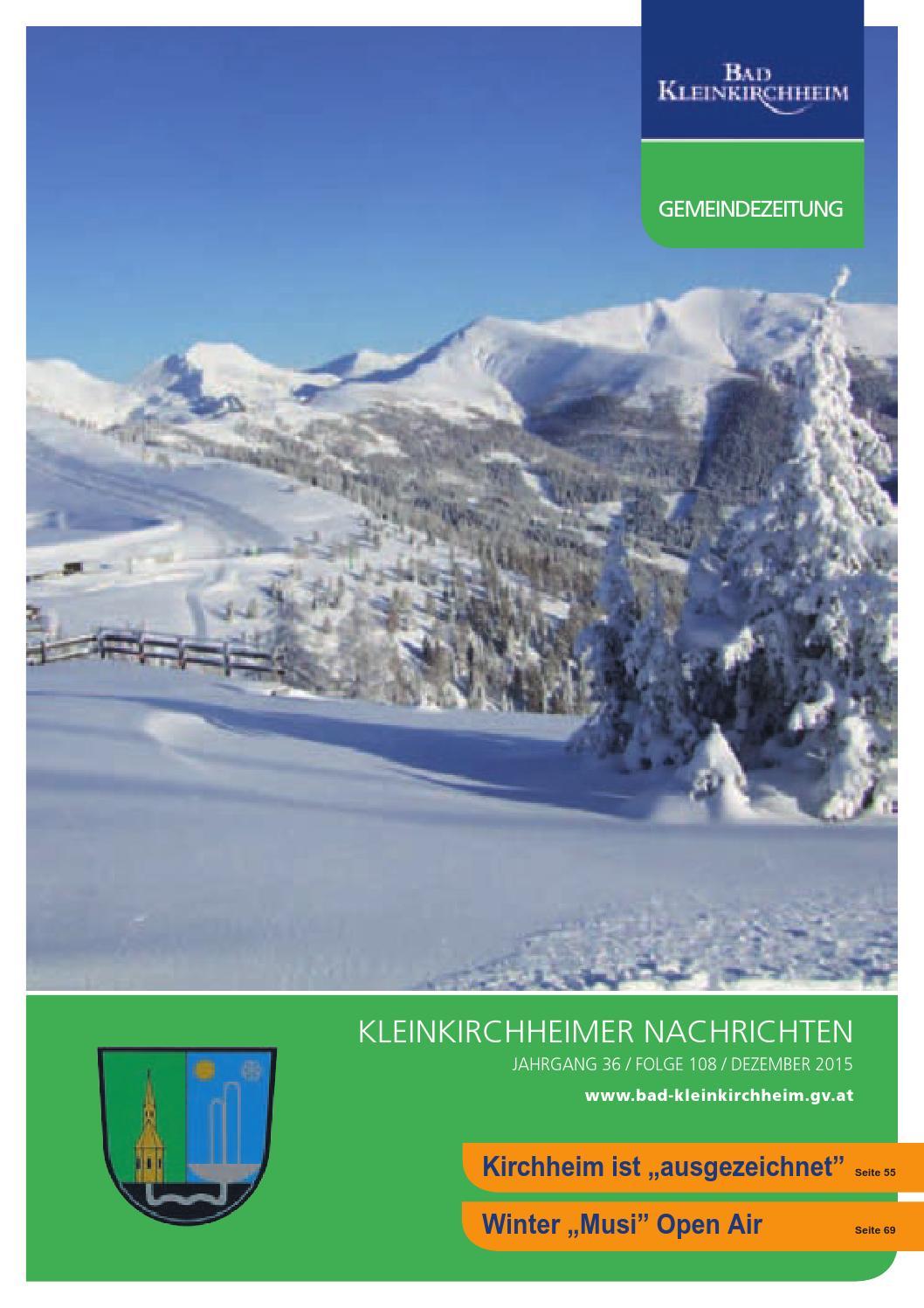 Kleinkirchheimer Nachrichten Ausgabe 12/2015 by Gemeinde Bad ...