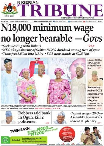 20th November 2015 by Nigerian Tribune - issuu