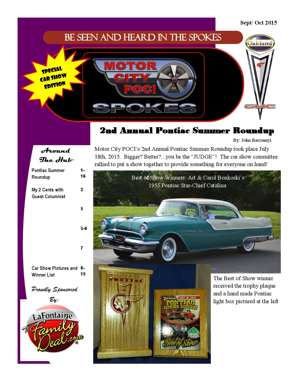 Pontiac Summer Roundup 2015 Special Edition By Motor City Poci 1954 Star Chief Catalina Newsletters Issuu