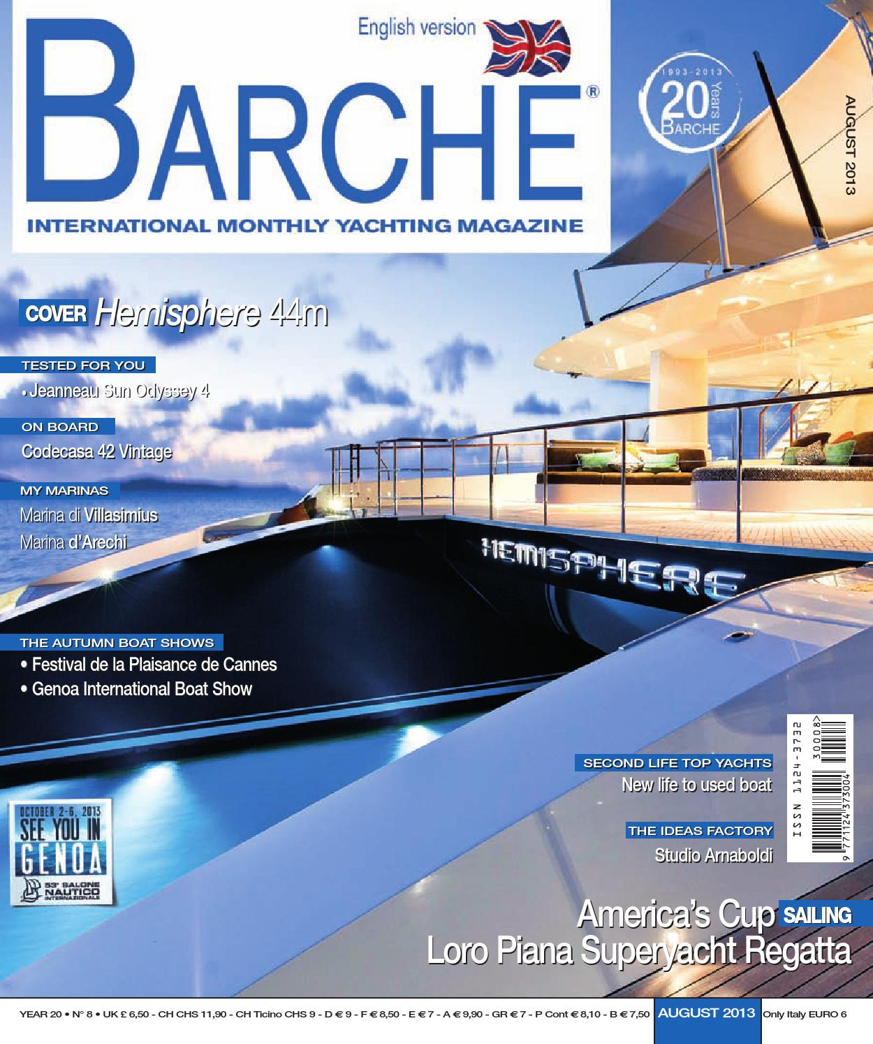 BARCHE August 2013 EN Edition by INTERNATIONAL SEA PRESS SRL