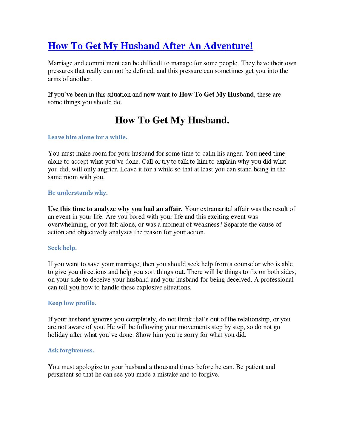 How to save my husband from my mother-in-law