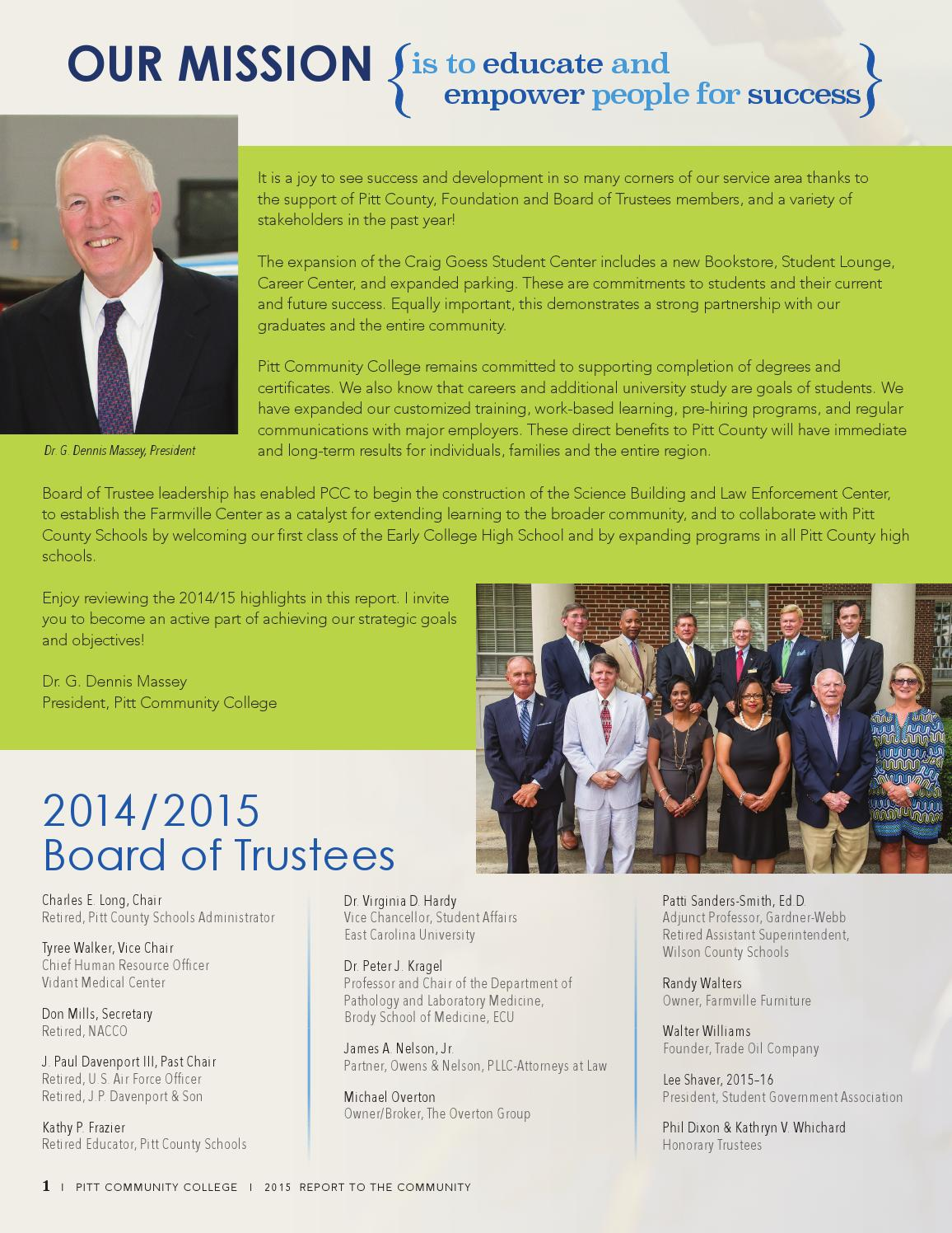 PCC 2014-2015 Annual Report by Pitt Community College - issuu