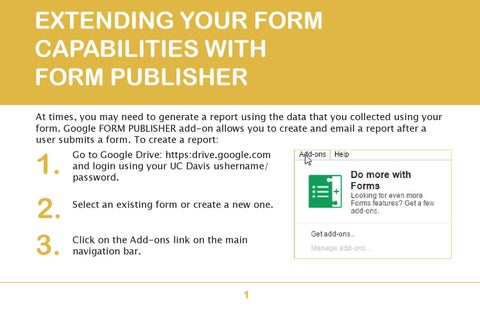 Extending google Forms with Form Publisher by Heloisa Kinder - issuu