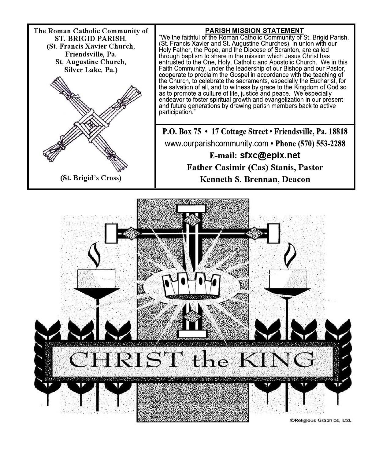 November 22, 2015 bulletin by St Brigid Parish - issuu