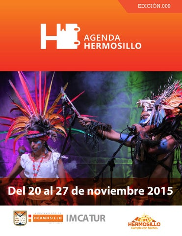 "Cover of ""Agenda Hermosillo del 20 al 27 noviembre"""