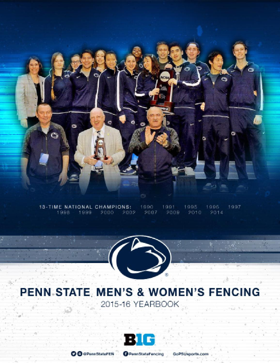 Penn State Fencing 2015 16 Yearbook By Penn State