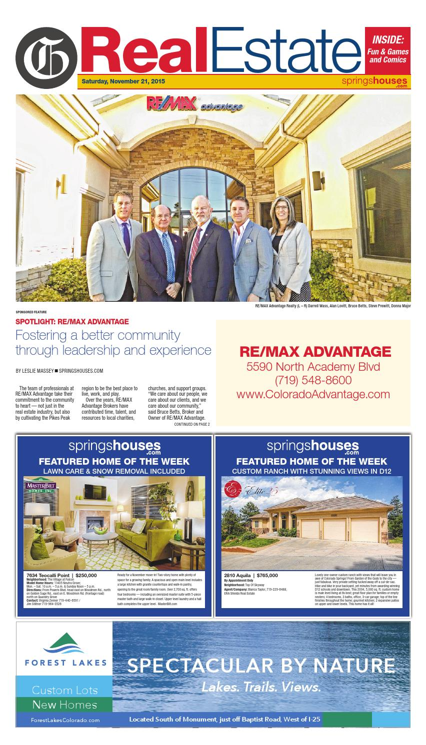 Real Estate 11 21 15 By Colorado Springs Gazette Llc Issuu