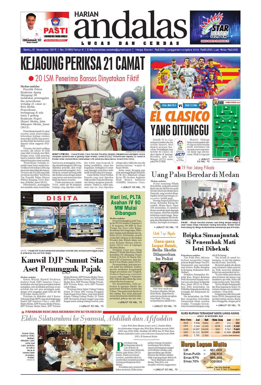 Epaper andalas edisi sabtu 21 november 2015 by media andalas - issuu a3bb6d5ec3