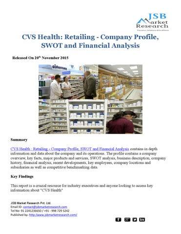 CVS Health: Retailing - Company Profile: JSBMarketResearch