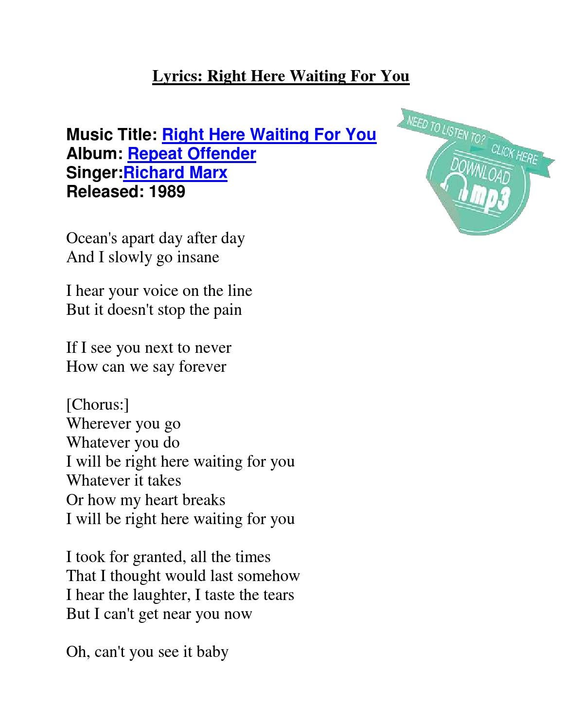 download lagu richard marx right here waiting for you mp3