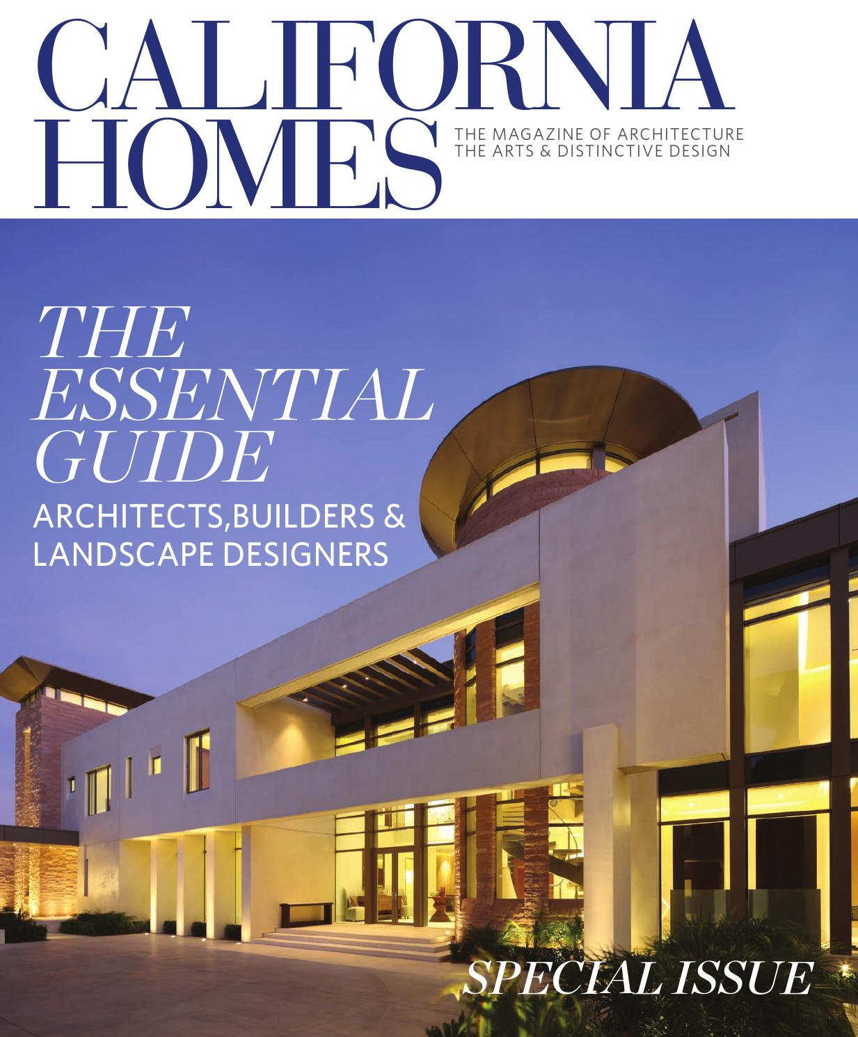 California homes essential guide to architects builders for Home builders magazine