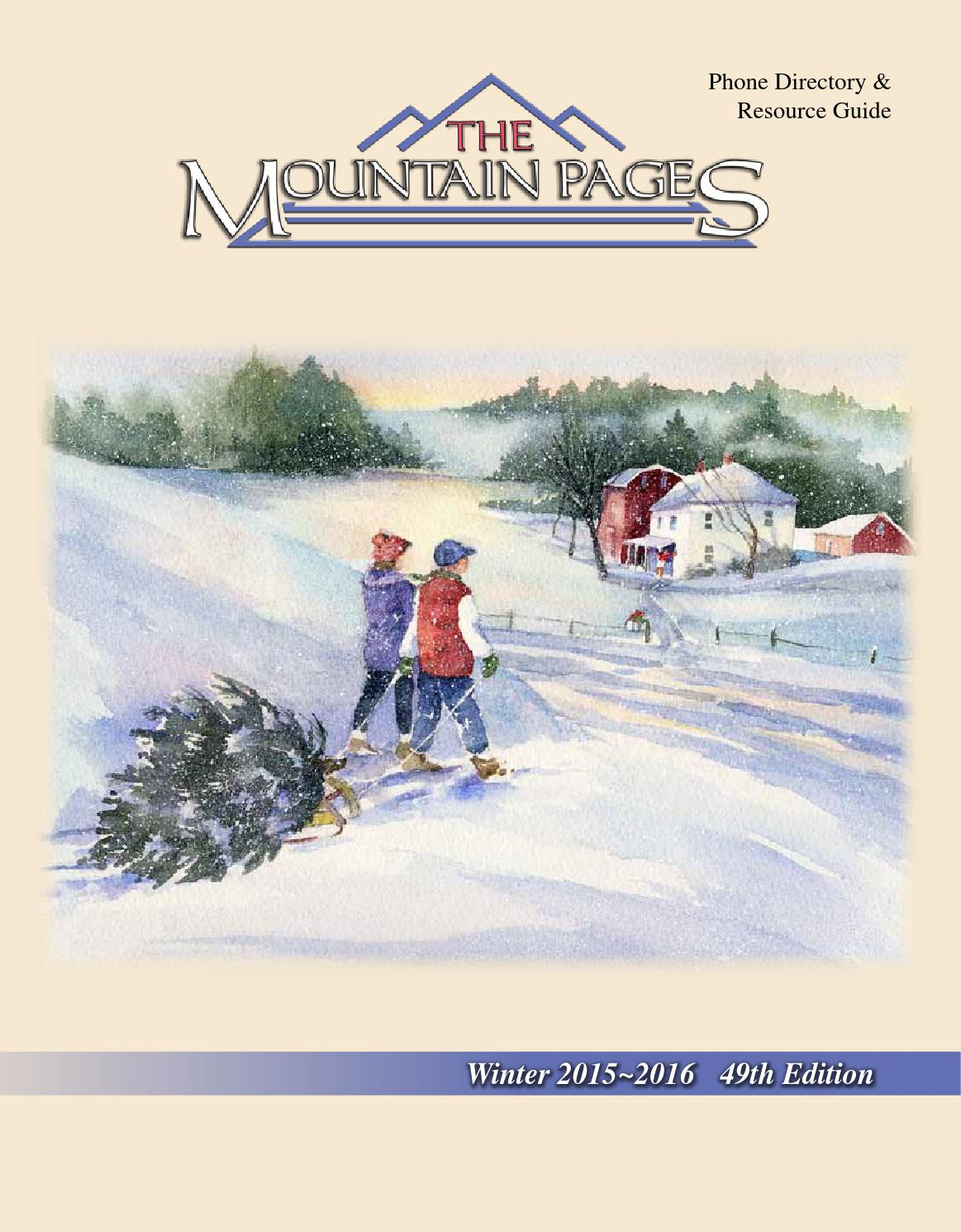The Mountain Pages Winter 2015 2016 By MtnPages