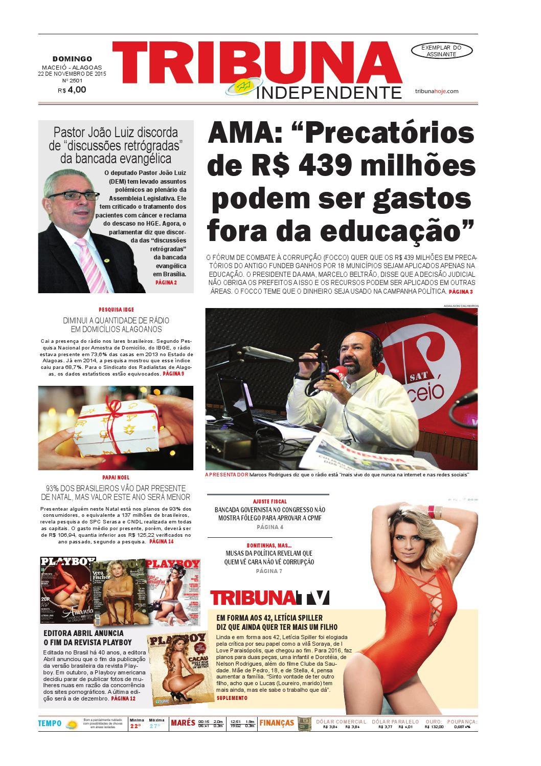 9635cae4d30 Edição número 2501 - 22 de novembro de 2015 by Tribuna Hoje - issuu
