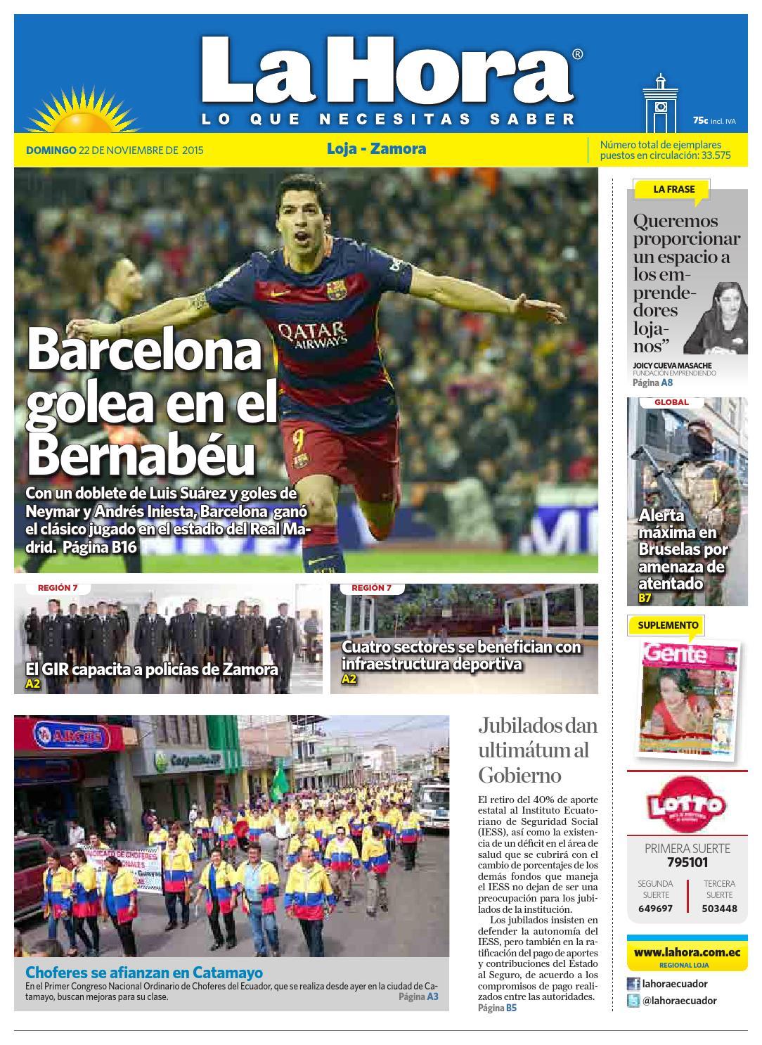bf05dd1782 Diario La Hora Loja 22 de Noviembre 2015 by Diario La Hora Ecuador - issuu