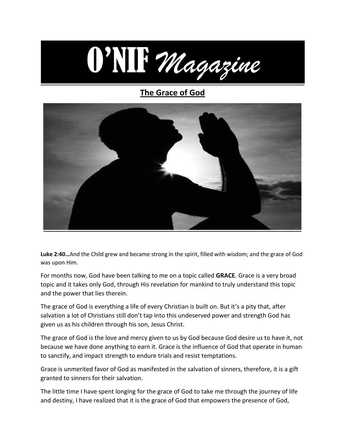 The grace of god by O'NIFMAGAZINE - issuu