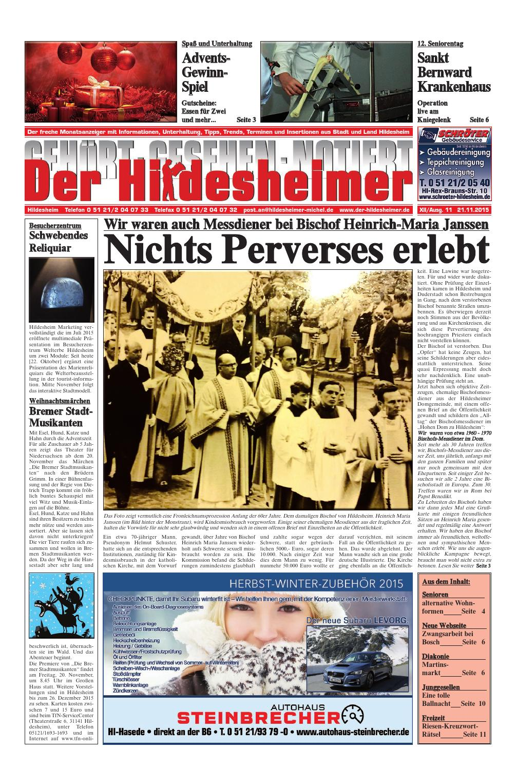 Ausgabe 112015 By Der Hildesheimer Issuu
