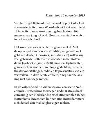 gefeliciteerd met uw aankoop Rotterdams Woordenboek 1e druk by Stichting Aquarius   issuu gefeliciteerd met uw aankoop