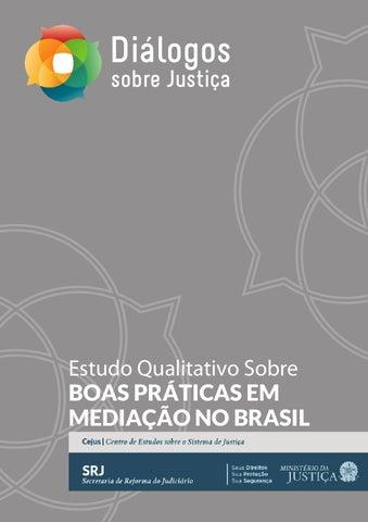 Page 1. Estudo Qualitativo Sobre BOAS PRÁTICAS EM MEDIAÇÃO NO BRASIL 00bacbb750098